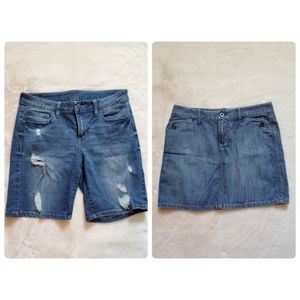Jean Shorts & Skirt Bundle